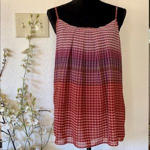 Cute CAbi Houndstooth Pleated Top